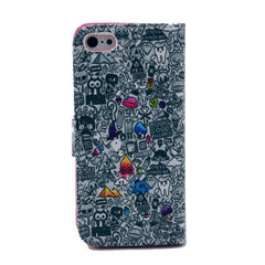 Cartoon Painting Leather iPhone 5 Case - BoardwalkBuy - 2