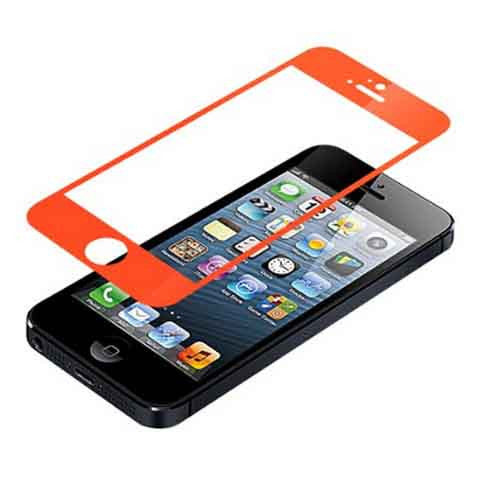 iPhone 5 Premium Shock Proof Tempered Glass Screen Protector Cover orange - BoardwalkBuy - 1