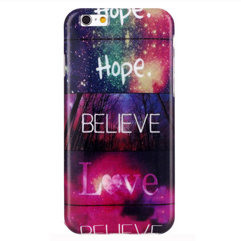 Believe Love hard case for iphone 6 plus 5.5 inch