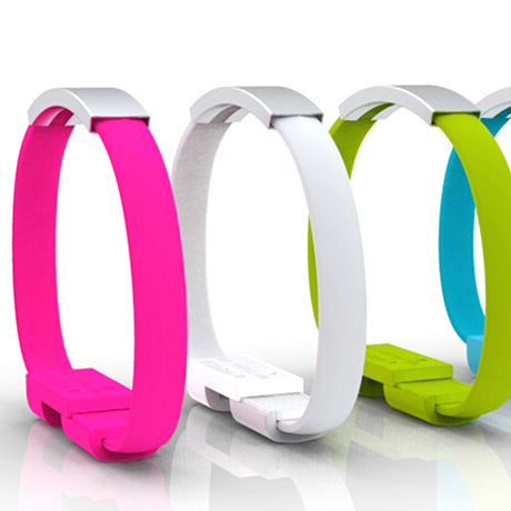 Silicone iPhone 5/6 USB Bracelet - Assorted Colors