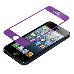 iPhone 5 Premium Shock Proof Tempered Glass Screen Protector Cover purple - BoardwalkBuy - 1