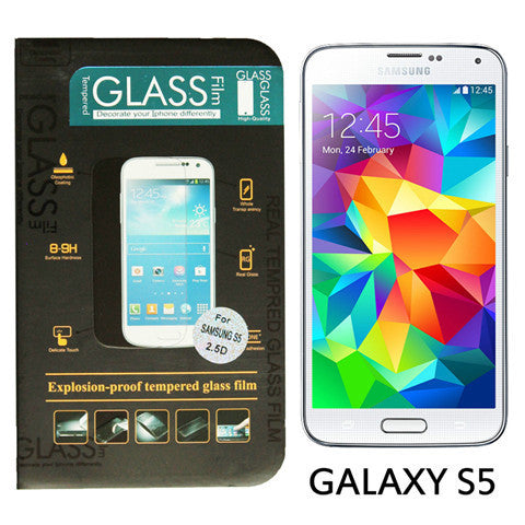 9H Anti Scratch Tempered Glass Screen Protector Guard Film For Samsung Galaxy S5 - BoardwalkBuy - 1
