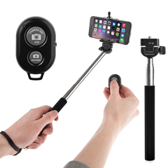 Selfie Stick With Remote Bluetooth Shutter Button - Assorted Colors - BoardwalkBuy - 2