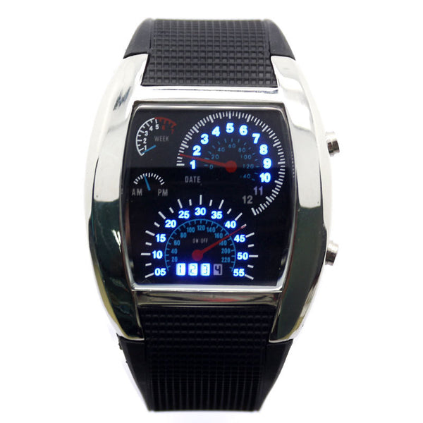 Led Digital Watch Men S Race Car Military Style Boardwalkbuy