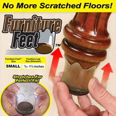8 Pack: Furniture Feet Flexible Floor Protectors - BoardwalkBuy - 2