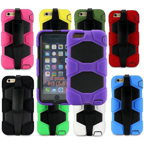 Hybrid Hard Stand Case for iPhone 6 Plus - BoardwalkBuy - 1