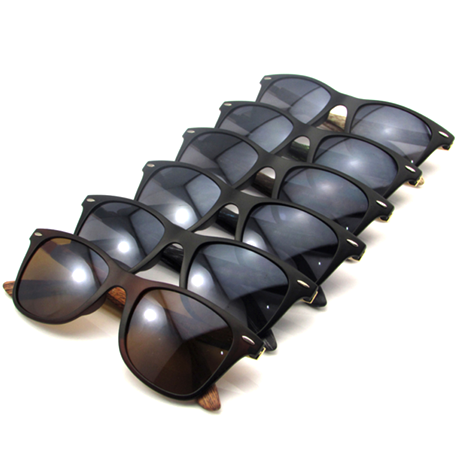 Unisex Bamboo Wooden Style Sunglasses - Assorted Colors - BoardwalkBuy - 1