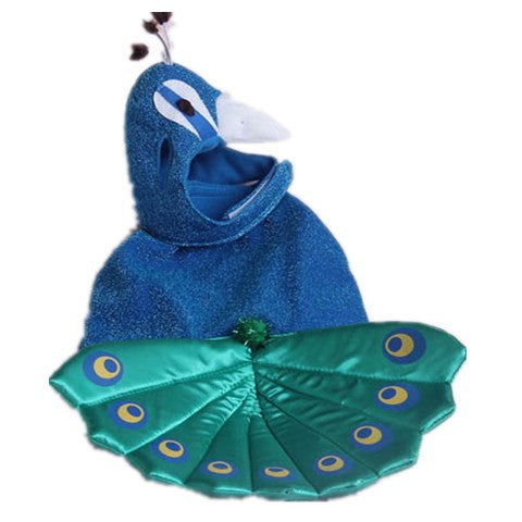 Costume Blue Pet Peacock Hat For Small Cats