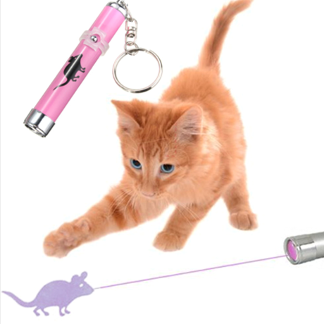 Led Laser Cat Toy With Mouse Animation
