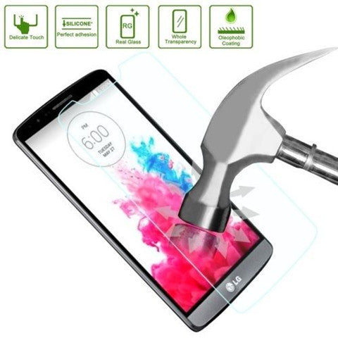 Clear Tempered Glass Screen Protector Cover 0.4mm 9H Hardness for LG G3 - BoardwalkBuy - 1