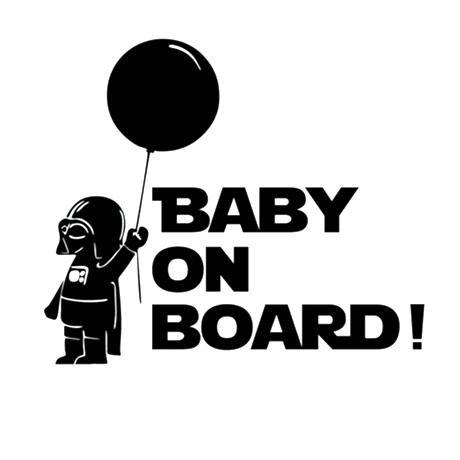 Baby On Board Star Wars Car Vinyl Sticker - Assorted Colors and Sizes