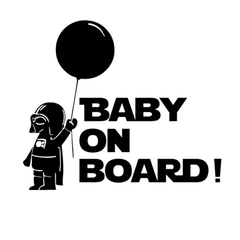 Baby On Board Star Wars Car Vinyl Sticker - Assorted Colors and Sizes - BoardwalkBuy - 1