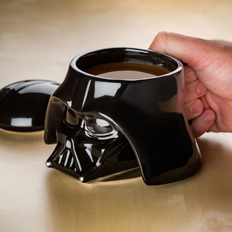 3D Star Wars Ceramic Mug With Removeable Lid - Darth Vader or Stormtrooper Styles Available