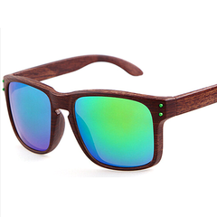 Stylish Wooden-Frame Sports Sunglasses - Assorted Colors - BoardwalkBuy - 3