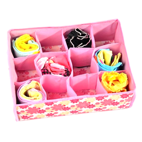 Storage Box for Bras, Underwears and Socks - Blue or Pink - BoardwalkBuy - 1