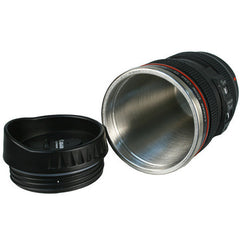 SLR Camera Lens Stainless Steel Travel Coffee Mug with Leak-Proof Lid - BoardwalkBuy - 7
