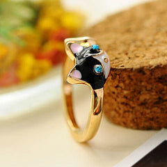 Women Enamel Cat Ring - BoardwalkBuy - 3