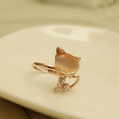 Cute Cat Opening Rings for Women
