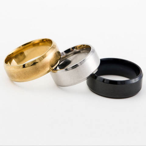 Plated Titanium Steel Rings