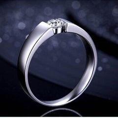Natural Crystal Couple Silver Ring - BoardwalkBuy - 3