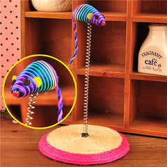 Small Sisal Tumbler Spring Mouse Cat Toy