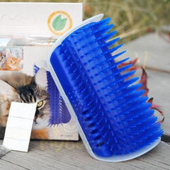 Cat Massage Self Groomer Brush Comb With Catnip