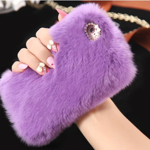 Fur Back Protective Phone Cover
