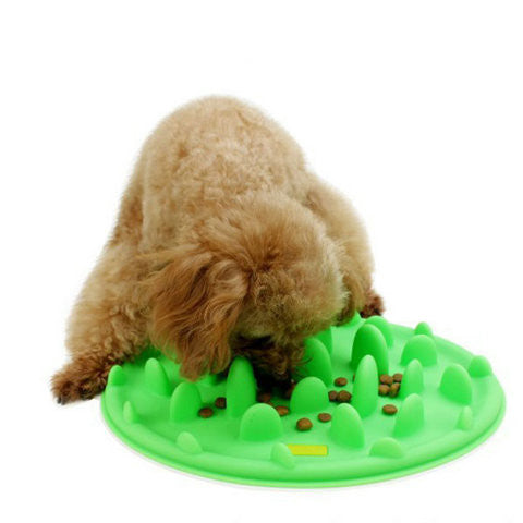 Silicone Anti Choke Interactive Slow Feeding  Bowl