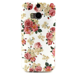 Floral TPU Case for HTC One M8 - BoardwalkBuy - 1