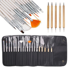 21-Piece Set: Nail Art Design Kit with Brushes & Pens - BoardwalkBuy - 2