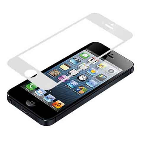 iPhone 5 Premium Shock Proof Tempered Glass Screen Protector Cover white - BoardwalkBuy - 1
