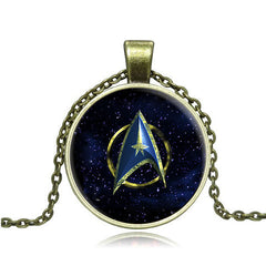 Star Trek Glass Pendant Necklace- Gold and Silver - BoardwalkBuy - 2