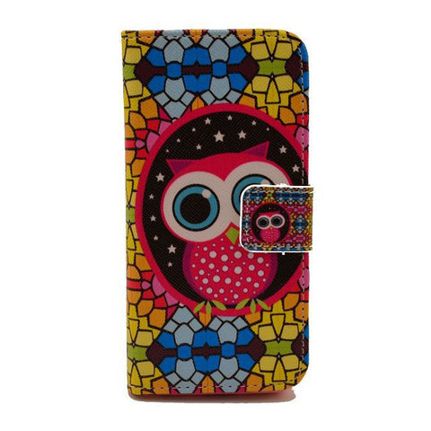 Owl Painting Leather iPhone 5 Case