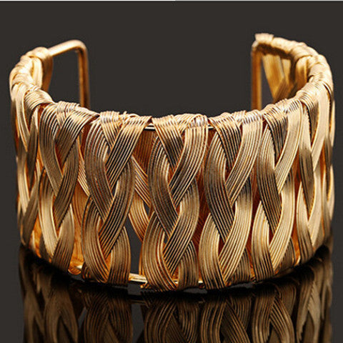 Woven Metal Wire Bracelet - BoardwalkBuy - 1