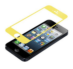 iPhone 5 Premium Shock Proof Tempered Glass Screen Protector Cover yellow - BoardwalkBuy - 1