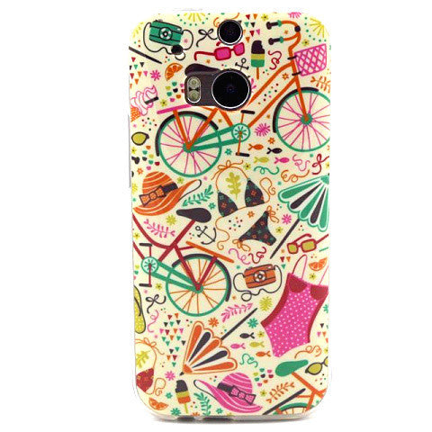 Panited TPU Case for HTC One M8 - BoardwalkBuy - 1