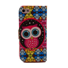 Owl Painting Leather iPhone 5 Case - BoardwalkBuy - 2