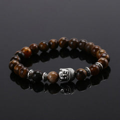 Energy Volcanic Stone Buddha Head Beads Bracelet - BoardwalkBuy - 3