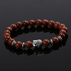 Energy Volcanic Stone Buddha Head Beads Bracelet - BoardwalkBuy - 5