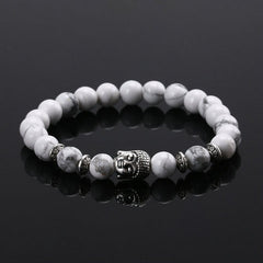 Energy Volcanic Stone Buddha Head Beads Bracelet - BoardwalkBuy - 6