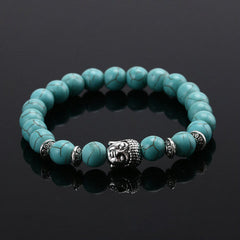 Energy Volcanic Stone Buddha Head Beads Bracelet - BoardwalkBuy - 4
