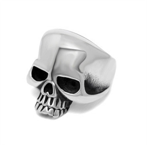 Polishing Skull Stainless Steel Ghost Skull Ring