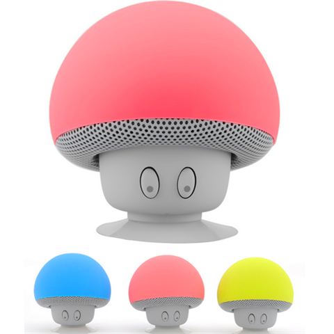 Mini Subminiature Mushroom Portable Silicone Sucker Hands Wireless Speaker