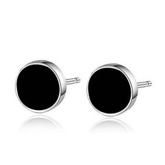 6.8mm 925 Sterling Silver Stud Earrings For Women And Men - BoardwalkBuy - 1