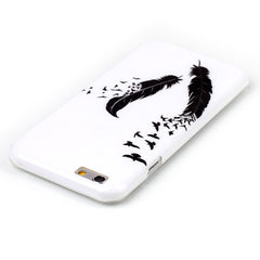 Black Feather hard case for iphone 6 plus 5.5 inch - BoardwalkBuy - 2