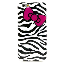 Zebra Bowknot TPU Case for iPhone 6 Plus - BoardwalkBuy - 1