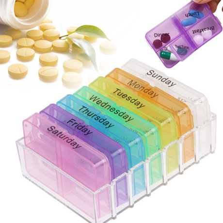 Compact Weekly Pill Organizer - BoardwalkBuy - 1