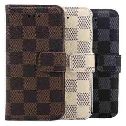 PU Leather Plaid Wallet Case For iPhone 6 - BoardwalkBuy - 1
