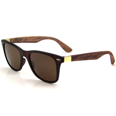 Unisex Bamboo Wooden Style Sunglasses - Assorted Colors - BoardwalkBuy - 4