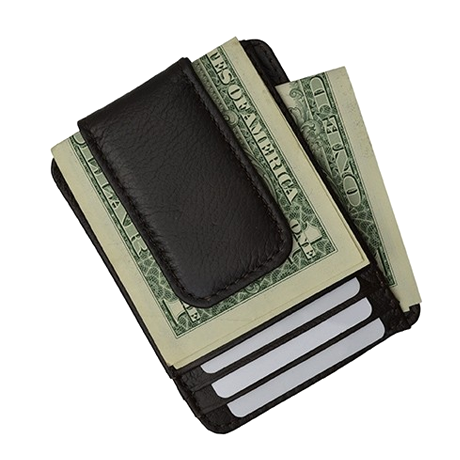 Luxuries Genuine Leather Magnetic Money Clip Wallet